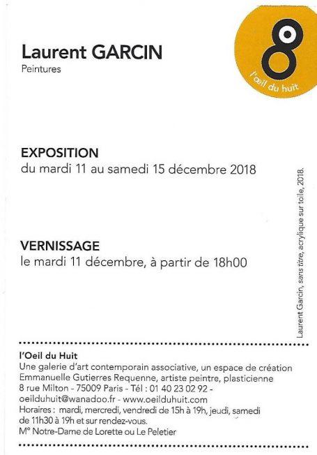 expo Laurent Garcin décembre 2018